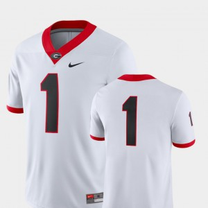 2018 Game White For Men's UGA Jersey College Football #1 545901-936