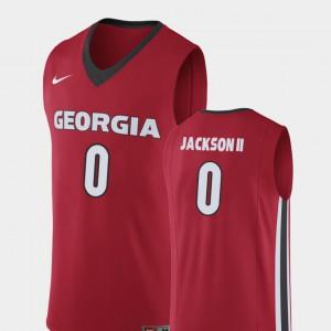 Red William Jackson II UGA Jersey Replica College Basketball #0 Men 423896-355