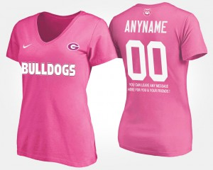 With Message UGA Custom T-Shirt Pink #00 Women's 654064-270
