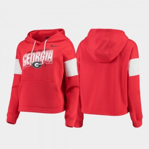 Pullover Local UGA Hoodie Red For Women's 465541-625